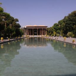 Palace of the 40 columns in Isfahan, Iran