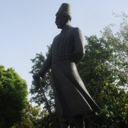 Statue of Architect Ostad Ali Akbar Isfahani in Isfahan, Iran