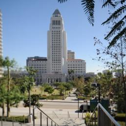 Los Angeles City Hall in Los Angeles, California by architects John Parkinson, Albert C. Martin, John C. Austin