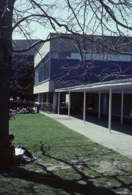 Harvard Graduate Center in Cambridge, Massachussetts by architect Walter Gropius