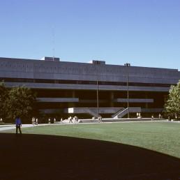 Stratton Student Center at MIT in Cambridge, Massachussetts by architect Eduardo Catalano