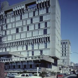 Holyoke Center (Smith Center) at Harvard University in Cambridge, Massachussetts by architect Jose Luis Sert