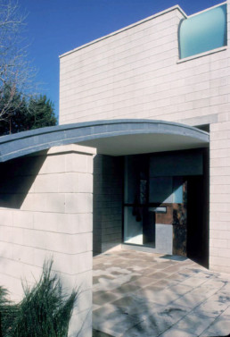 Stephen Holl Stretto House Dallas Exterior Winter Sun Blue Sky