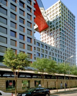Exterior Blue Sky Sun Stephen Holl Linked Hybrid Beijing Housing