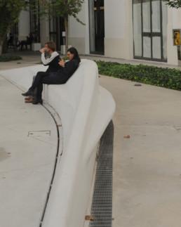 Zaha Hadid Maxxi Museum Larry Speck Rome Italy Bench